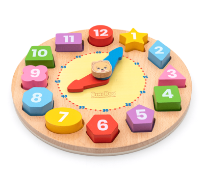Shape and Color Sorting Clock